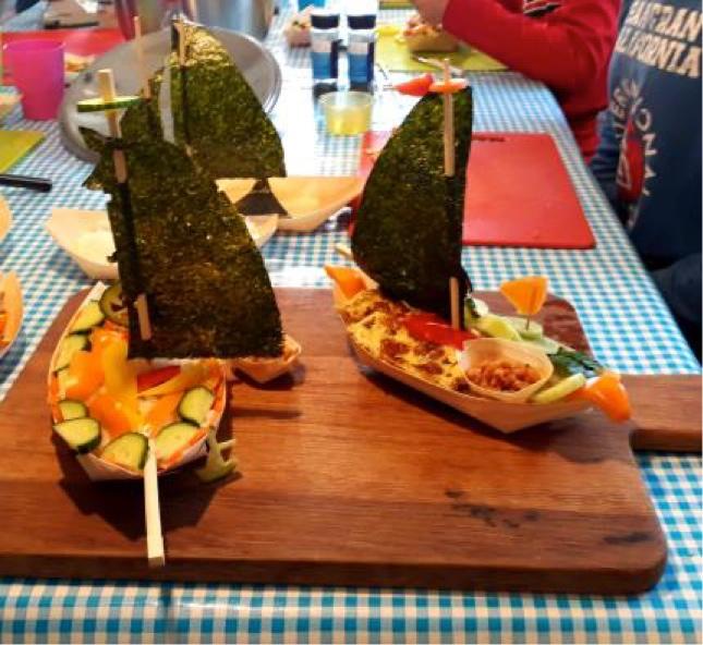 Creatief Zeeuws KinderMenu 'Sushi in een Boot'