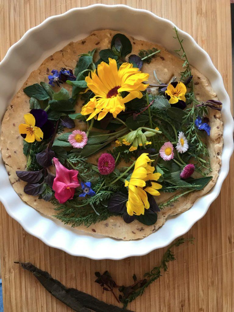 Een taart met bloemen (ja, je kunt hem eten)
